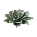 Flor Decorativa Cerâmica Verde