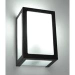 Arandela Retangular Área Externa Para 1 Lâmpada E27 Alumínio Marrom