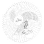 Ventilador Oscilante de Parede Premium 60cm Bivolt Branco Venti-Delta