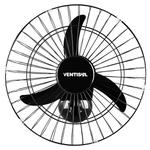 Ventilador Oscilante de Parede 50cm Preto Bivolt Ventisol