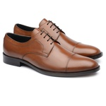 Derby Cap Toe Conhaque 150001