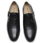 Sapato Social Masculino de Couro Preto com Fivela GS04