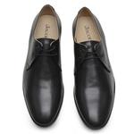 Sapato Social Masculino de Couro Preto de Amarrar GS06