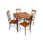 Jogo de mesa com 4 cadeiras arabesco