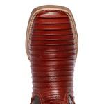Bota Texana Masculina Bico Quadrado Casco de Tatu Couro Pinhão
