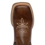 Bota Texana Masculina Bico Quadrado Couro Legítimo Látego Café Boots