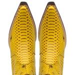 Bota Masculina Cano Curto Couro Anaconda PB Amarelo