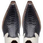Bota Masculina Cano Curto Couro Anaconda PB Grafite e Mustang Marfim