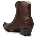 Botina Country Masculina Couro Floater Chocolate
