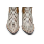 Bota Texana Bico Fino Country Masculina Anaconda Euro Marfim e Floater Bege