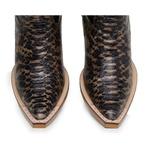 Bota Texana Bico Fino Country Masculina Anaconda Onça e Mustang Preto