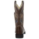 Bota Country Masculina Texana Exótica Jacaré Tabaco e Crazy Horse Chocolate