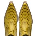 Botina Country Masculina Couro Anaconda PB Amarelo