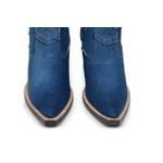 Botina Country Masculina Bico Fino Jeans Escuro