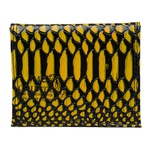 Carteira Masculina Couro Anaconda Preto e Amarelo