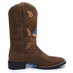 Bota Country Masculina Texana JM Country Couro Crazy Horse Café