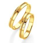 Alianças de Ouro Dourados 4,5mm