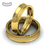 Alianças de Ouro Anatômica Duque de Caxias 5mm