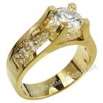 Anel Solitário de Diamantes Santos