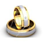 Alianças de Casamento Patrocínio 7,4mm