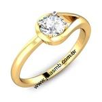 Anel Solitário de Diamante Mauá