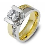 Anel Solitário de Diamantes Joinville