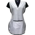 Avental Jaleco Branco Doméstica com Renda
