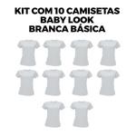 Kit com 10 Babys Look Básica Branca