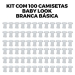 Kit com 100 Babys Look Básica Branca Copia