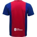 Camiseta Manga Curta Vermelha e Azul