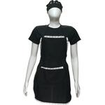 Kit Avental, Touca e Camiseta Preta