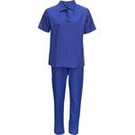 Conjunto Brim Calça e Jaleco Camisa Gola Itália