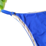 Calcinha De Biquíni Fixo com Regulador - Azul Bic