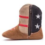 Bota Bebê Texana Country Estados Unidos Castor/Azul Kapell