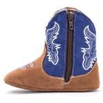 Bota Bebê Texana Country Castor/Azul Kapell