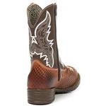 Bota Texana Masculina Infantil em Couro Marrom Anaconda Kapell
