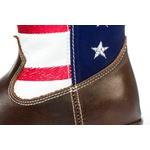 Bota Texana Masculina Infantil em Couro Marrom Estados Unidos USA Kapell