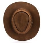Chapéu Estilo Americano em Couro Legitimo Linha Texas Camel Kapell