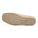 Sapato Feminino em Couro Marfim Slip On Solado Anabela Linha Lady Comfort Kapell