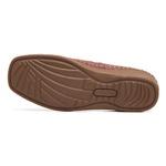 Sapato Feminino em Couro Vermelho Slip On Solado Anabela Linha Lady Comfort Kapell