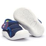 Tênis Menino Bebê com Velcro Linha Baby Azul Kapell