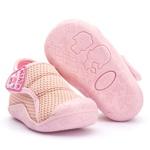 Tênis Menina Bebê com Velcro Linha Baby Rosa Kapell