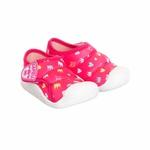 Tênis Menina Bebê com Velcro Linha Baby Pink Estampado Kapell Copia