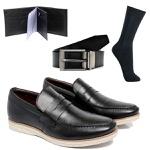Kit 4 em 1 Sapato Masculino Ref.: Kit Preto 02