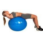 Bola Suiça Pilates Yoga Ginastica 65 Cm + Dvd Grátis