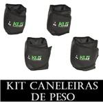 Kit Tornozeleira Caneleira De Peso 2kg 3kg 4kg 5kg