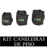 Kit Caneleira Tornozeleira de Peso 3,4 E 5 KG