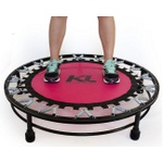Mini Cama Elastica Rosa Trampolim Jump Profissional + DVD + Capa Protetora