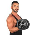 KIT Musculação Completo Barras 40 kg Anilhas Pintadas