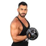 KIT Musculação Completo Barras 12 kg Anilhas Pintadas